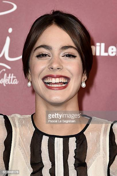 Martina Stoessel attends the 'Tini La Nouvelle Vie De Violetta' Paris Premiere at UGC Cine Cite La Defense on April 24 2016 in ParisLa Defense France