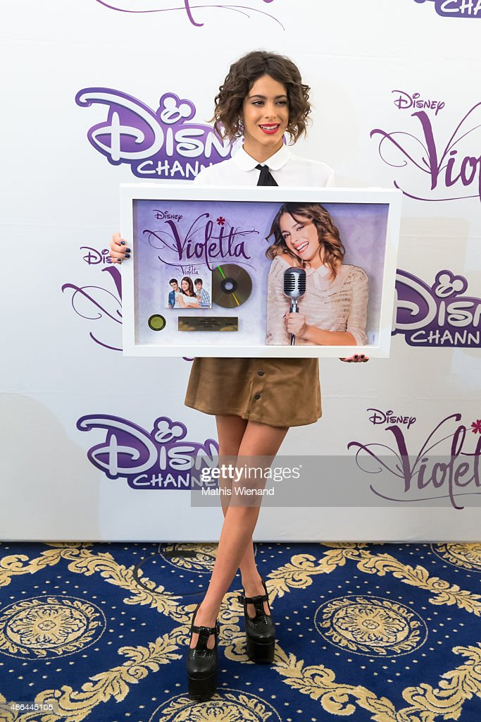 Martina Stoessel attends the Violetta by Disney photocall at Hotel Excelsior Ernst on September 4, 2015 in Cologne, Germany.