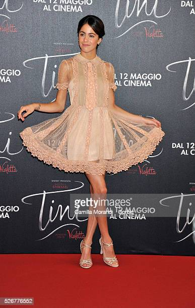 Martina Stoessel walks the red carpet at the 'Tini' photocall on April 29 2016 in Rome Italy