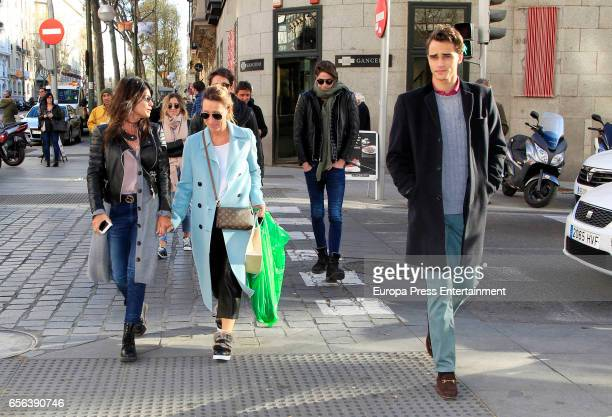 Martina Stoessel's mother Mariana Stoessel and Pepe Barroso jr arrive at Amazonico restaurant to celebrate Martina's 20th's birthday on March 21 2017...