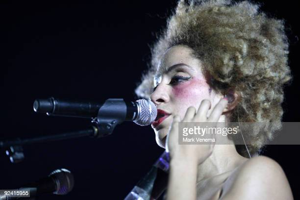 Martina Topley Bird performs live with Massive Attack at Heineken Music Hall on October 27, 2009 in Amsterdam, Netherlands.