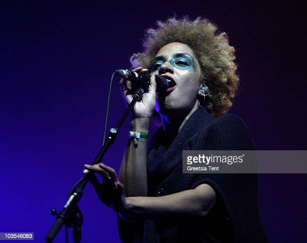 Martina Topley-Bird performs with Massive Attack on day three of the Lowlands Festival 2010 on August 22, 2010 in Biddinghuizen, Netherlands.