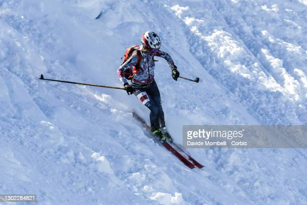 Martina Valmassoi in action during Italian Team Ski Mountaineering Championships on February 14, 2021 in ALBOSAGGIA, Italy.
