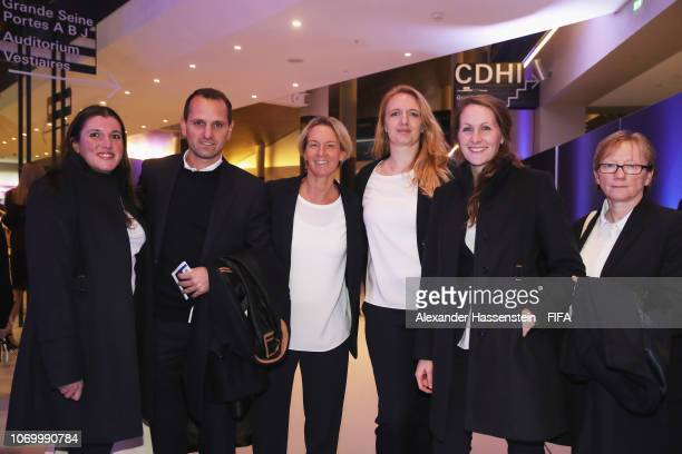 Martina VossTecklenburg coach of Germany and guests arrive for the FIFA Women's World Cup France 2019 Draw at La Seine Musicale on December 8 2018 in...