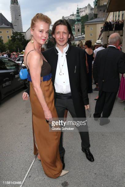 Martina Wurm and Julian Plica at the premiere of Idomeneo during the Salzburg Opera Festival 2019 at Haus fuer Mozart on July 27 2019 in Salzburg...