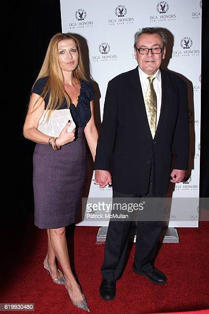 Martina Zborilova and Milos Forman attend 7th Annual DIRECTOR'S GUILD of AMERICA Honors Arrivals at DGA Theater on October 16 2008 in New York City