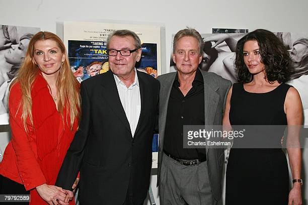 Martina Zborilova Writer/Director Milos Forman Actor/Producer Michael Douglas and actress Catherine Zeta Jones attend One Flew Over the Cuckoo's Nest...
