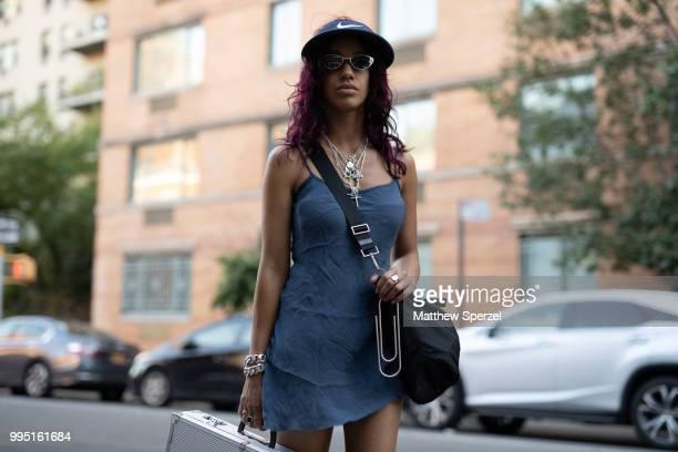 Martine Ali is seen on the street attending Men's New York Fashion Week wearing Martine Ali on July 9 2018 in New York City