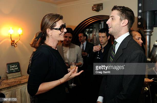 """Martine Assouline and Ignazio Cipriani attend Assouline and Cipriani host the launch of """"Simply Italian"""" at Cipriani Wall Street on October 28, 2013..."""
