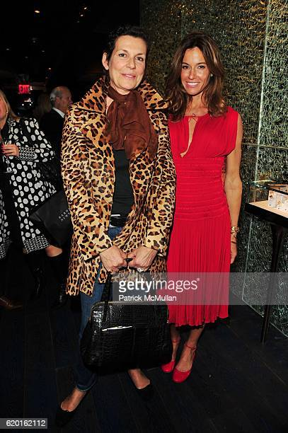 Martine Assouline and Kelly Bensimon attend MAUBOUSSIN flagship store grand opening hosted by ALAIN NEMARQ CEO Mauboussin and KELLY BENSIMON at...