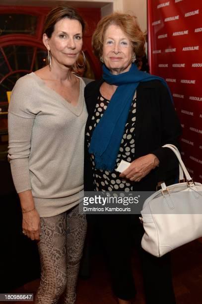 Martine Assouline and MarieMonique Steckel President French Institue Alliance Française attend ASSOULINE Martine and Prosper Assouline host a book...
