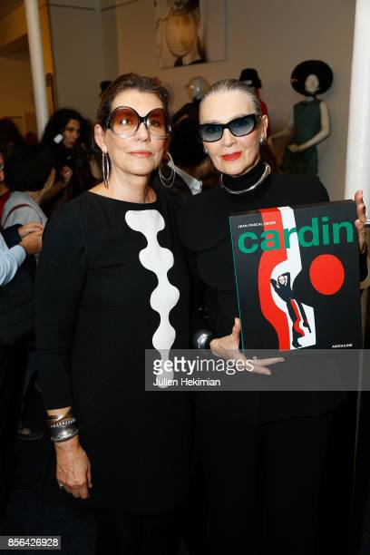 Martine Assouline and Maryse Gaspard attend the 'Pierre Cardin' By JeanPascal Hesse Book Signing At Pierre Cardin Museum as part of the Paris Fashion...