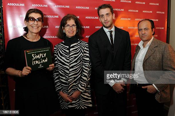 Martine Assouline, Editor-in-Chief at Gotham Magazine Catherine Sabino, Ignazio Cipriani and Prosper Assouline attend Assouline and Cipriani host the...