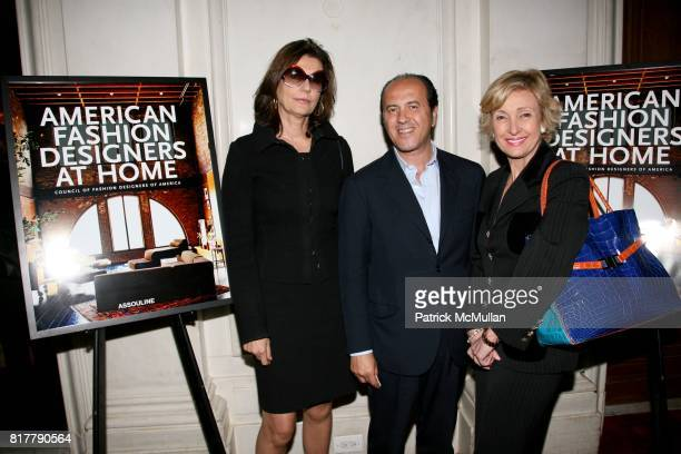 Martine Assouline Prosper Assouline and Lana Marks attend CFDA and ASSOULINE celebrate AMERICAN FASHION DESIGNERS AT HOME at The St Regis Hotel on...