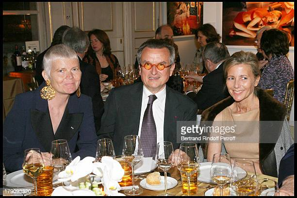 Martine Aublet George Francois Hirsch and Claire Chazal at AixenProvence Classical Music Gala Festival