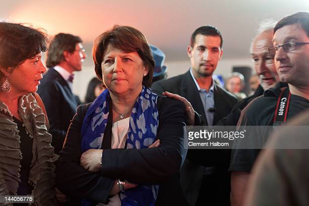 Martine Aubry attends celebrations following the victory of Socialist Francois Hollande in the French presidential election at Place de La Bastille...