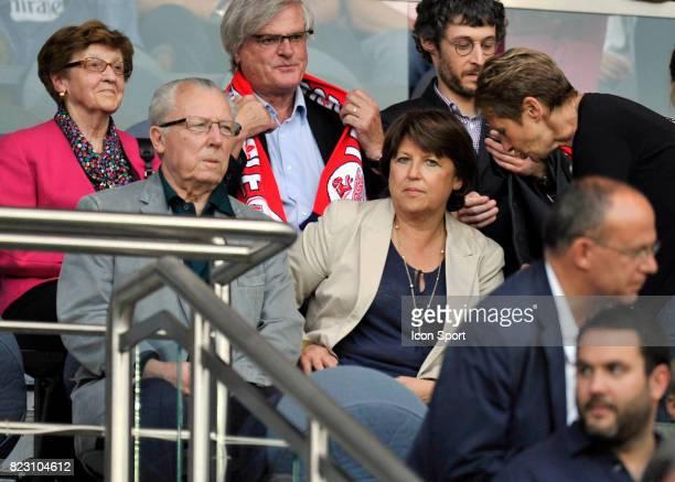 Martine AUBRY et Jacques DELORS PSG / Lille 37eme journee de Ligue 1