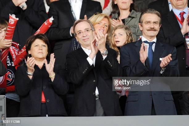 Martine AUBRY / Jerome SEYDOUX / Frederic THIRIEZ Lille / Rennes 38eme journee de Ligue 1