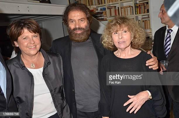 Martine Aubry Marek Halter and Clara Halter attend the Clara and Marek Halter Celebrate The New Jewish Year 5772 'Under The Sign of Peace' in Their...