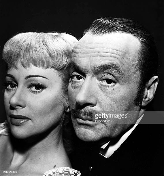1954 Martine Carol and Charles Boyer in a scene from the film 'Nana'