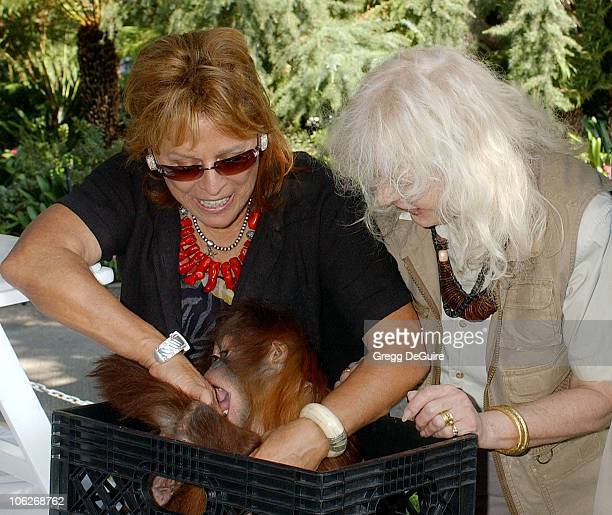 Martine Colette and Loretta Swit during 11th Annual Safari Brunch at Playboy Mansion in Beverly Hills California United States