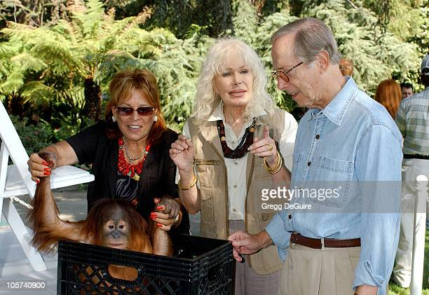 Martine Colette Loretta Swit and Bernie Kopell during 11th Annual Safari Brunch at Playboy Mansion in Beverly Hills California United States