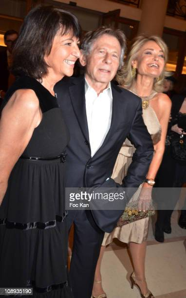 Martine Dassault Scopus awarded director Roman Polanski and Florence de Botton attend the 'Scopus 2011 Awards' Tribute to Charles Aznavour' at...