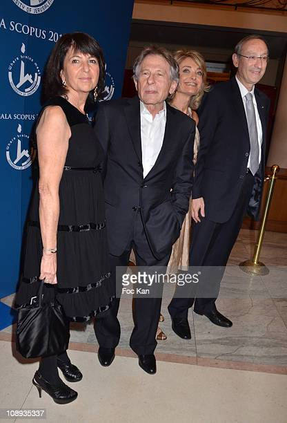 Martine Dassault Scopus awarded director Roman Polanski Florence de Botton and a guest attend the 'Scopus 2011 Awards' Tribute to Charles Aznavour'...