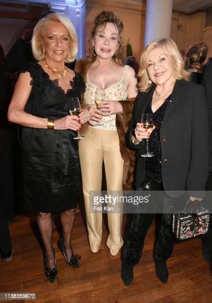 Martine de Leseleuc de Kerouara Grace de Capitani and Nicoletta attend Enfance Majuscule Auction Concert Cocktail at Salle Gaveau on March 25 2019 in...