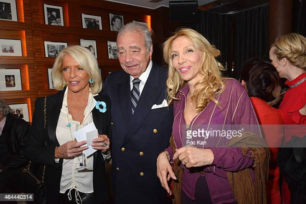Martine de Leseuleuc de Kerouara Plamen Roussev and Sylvie Elias attend the Massimo Gargia Private photo exhibition dinner party at Le Cosy on...