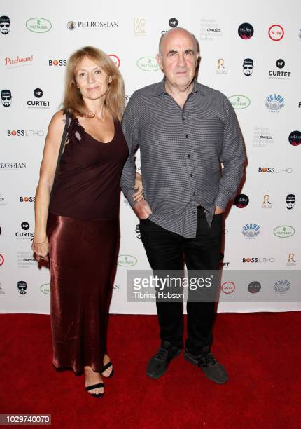 Martine Laing and John Laing attend The 25th Frame solo exhibition by Patrick Curtet on September 8 2018 in Los Angeles California