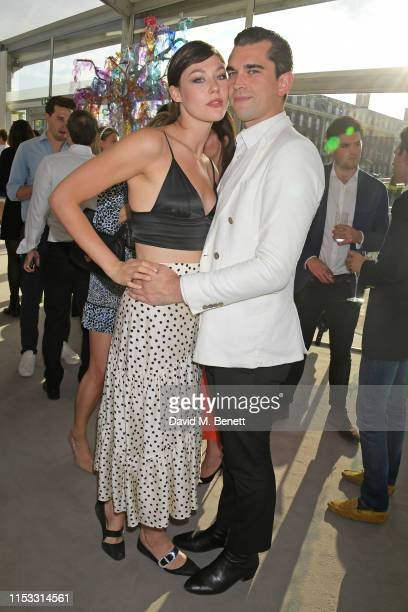 Martine Lervik and James D Kelly attend The Gentleman's Journal Summer Party at Masterpiece London on July 2 2019 in London England