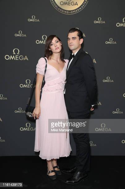 Martine Lervik and James D Kelly attend the OMEGA 50th anniversary Moon Landing dinner at Television Centre on July 11 2019 in London England