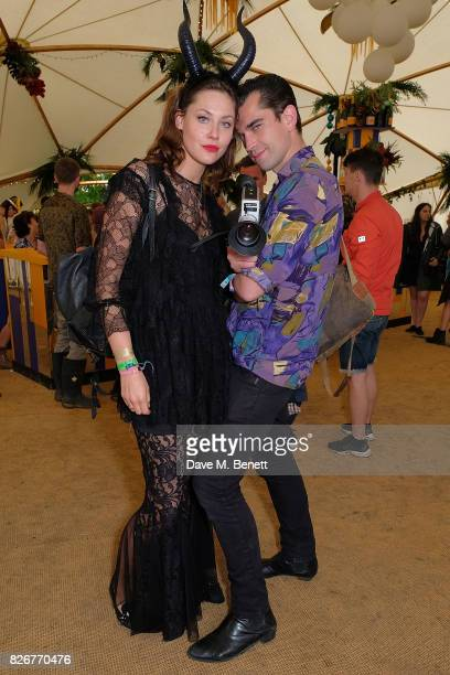 Martine Lervik and James Kelly at the Veuve Clicquot Champagne Bar Wilderness Festival on August 5 2017 in UNSPECIFIED United Kingdom