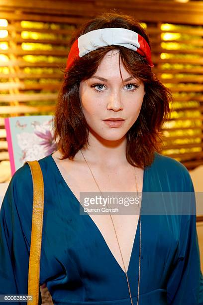 Martine Lervik attends the book launch of Matthew Williamson Fashion Print Colouring by Laurence King Publishing at Anthropologie on September 8 2016...