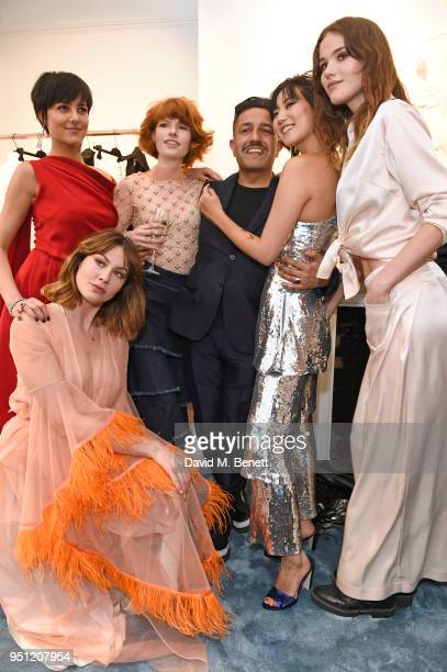 Martine Lervik Eliza Cummings Edwina Preston Osman Yousefzada Betty Bachz and Frankie Herbert attends the House Of Osman launch party supported by...