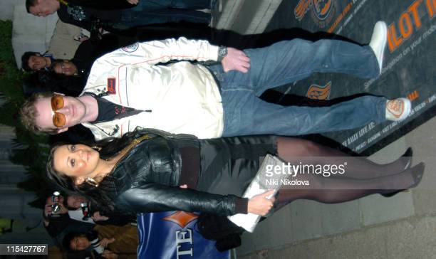 Martine McCutcheon and Guest during Drivin' Me Crazy Gumball 3000 Film Premiere Outside Arrivals at Savoy Place in London Great Britain