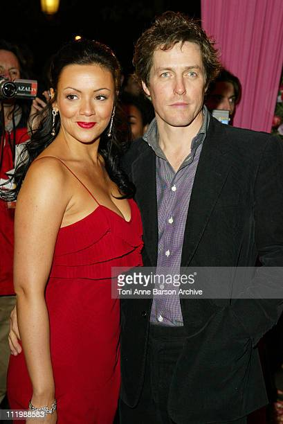 Martine McCutcheon and Hugh Grant during Love Actually Premiere Paris at UGC Normandy Champs Elysees in Paris France