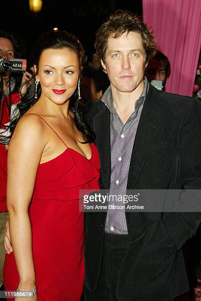 "Martine McCutcheon and Hugh Grant during ""Love Actually"" Premiere - Paris at UGC Normandy - Champs Elysees in Paris, France."