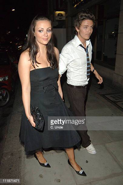 Martine McCutcheon and Tyler James during The Berkeley Square Ball After Party at Sketch Conduit Street London in London Great Britain