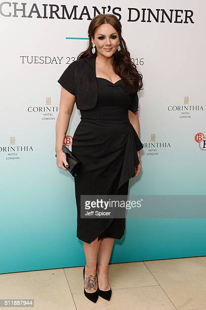 Martine McCutcheon arrives at the BFI Chairman's Dinner at The Corinthia Hotel on February 23 2016 in London England
