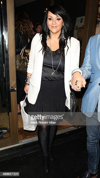 Martine McCutcheon attending the Simply Glamorous book launch party on September 16 2015 in London England
