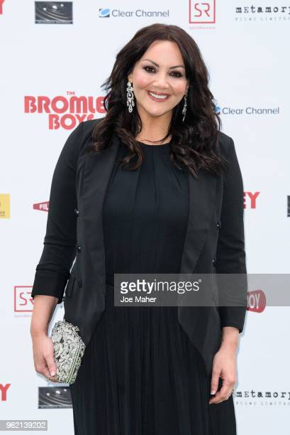 Martine McCutcheon attends 'The Bromley Boys' UK premiere held in The Great Room at Wembley Stadium on May 24, 2018 in London, England.