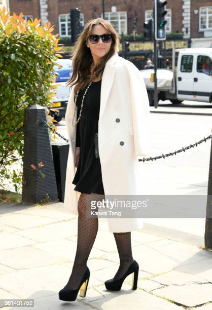 Martine McCutcheon attends the funeral of Dale Winton at the Old Church, 1 Marylebone Road on May 22, 2018 in London, England.