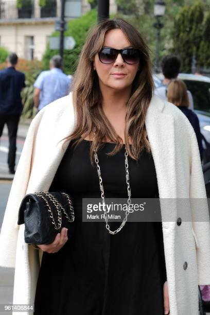 Martine McCutcheon attends the funeral service for Dale Winton at the Old Church No1 Marylebone road on May 22, 2018 in London, England.