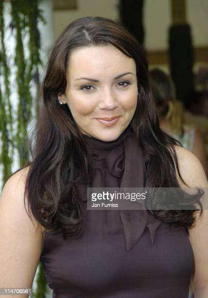 Martine McCutcheon during Cartier Polo Day July 24 2005 at Smiths lawn in Windsor Great Britain