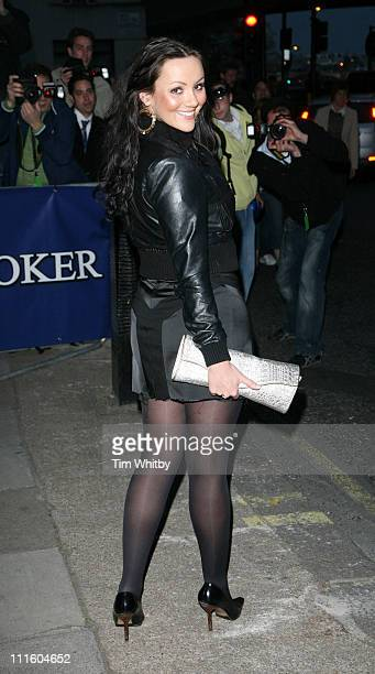 Martine McCutcheon during Drivin' Me Crazy Gumball Film Premiere Outside Arrivals at Savoy Place in London Great Britain