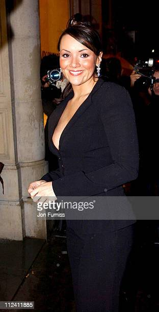 Martine McCutcheon during Giorgio Armani Party To Honour Russell Crowe Oscar Nomination at New Bond Street in London Great Britain