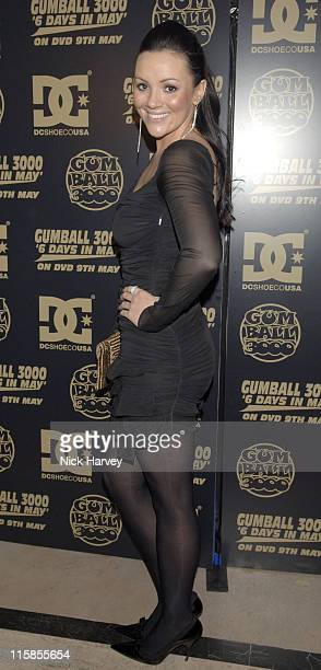 Martine McCutcheon during Gumball 3000 6 Days In May DVD Premiere and 2005 Rally Launch Party Inside at Victoria House in London Great Britain