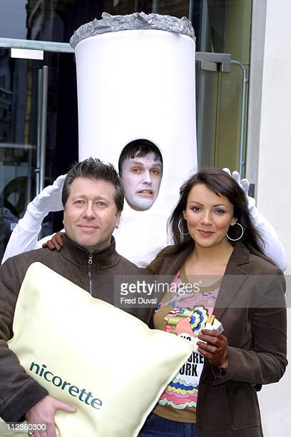 Martine McCutcheon during National Non Smoking Day Photocall at Trafalgar Square in London Great Britain